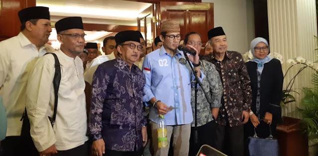 Prabowo dan Sandi Berterima Kasih Atas Kunjungan dan Dukungan Keluarga Pendiri NU