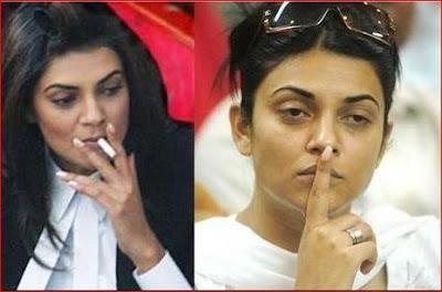 Sushmita Sen  smoking