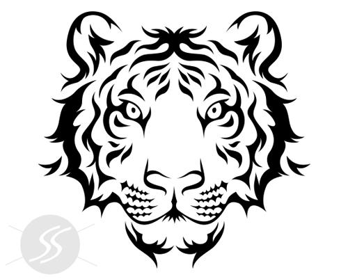 Adesivo decorativo tigre
