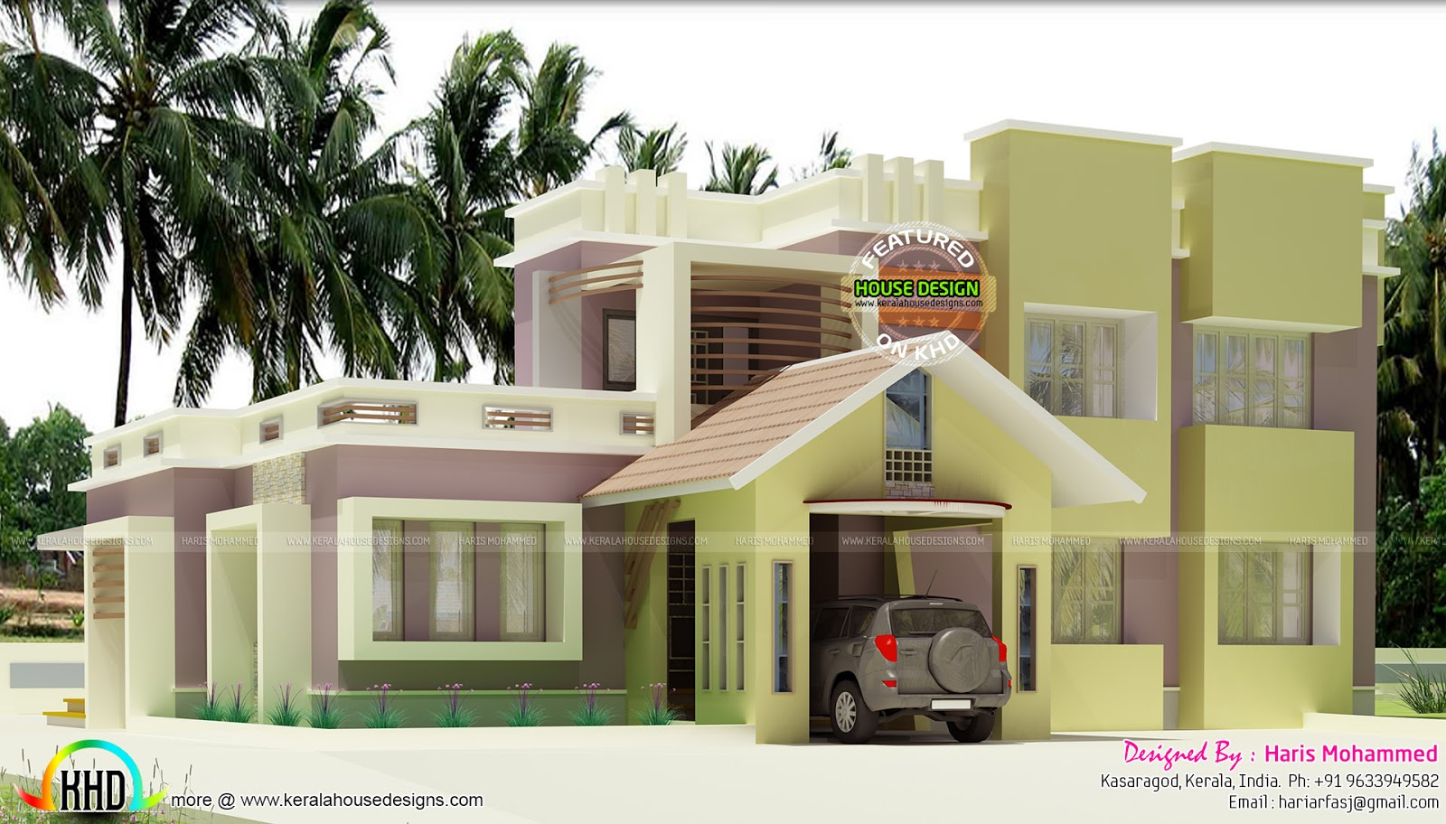 2126 Sq Ft Modern House Kerala Home Design And Floor Plans