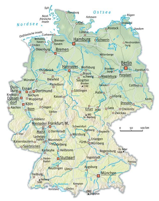 Maps Of Dallas Map Of Germany With Cities