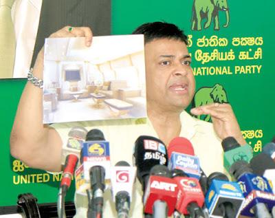 Ranjan Ramanayake reveals about mahinda's Special luxury aircraft