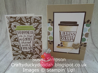 Craftyduckydoodah!, #stampinupik, Coffee Cafe, Coffee & Cards project April 2018, Stampin' Up! UK Independent  Demonstrator Susan Simpson, Supplies available 24/7 from my online store,