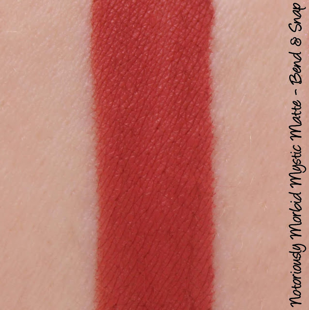 Notoriously Morbid Bend & Snap Mystic Matte Swatches & Review