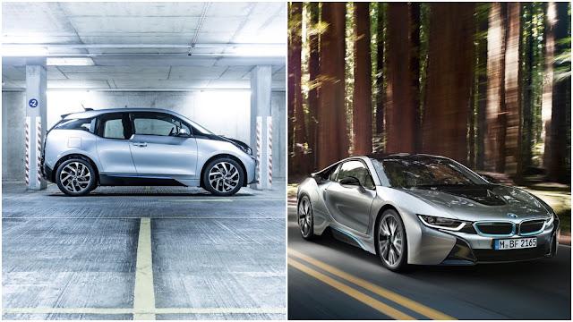 2015 BMW i8 and i3