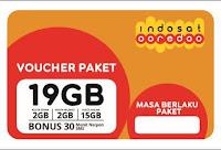 Voucher PAKET Indosat 19 Gb