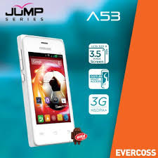 cara flashing Evercoss A53