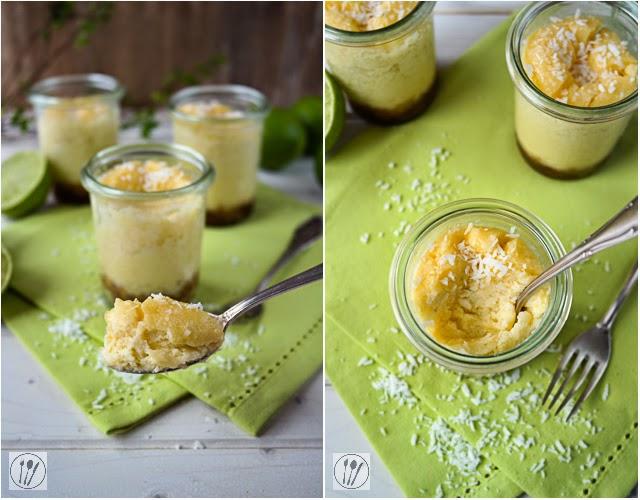 Limetten-Kokos-Cheesecake