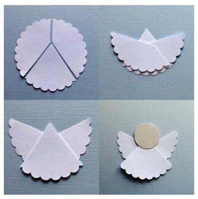 manualidades navideñas de papel para adornar las paredes