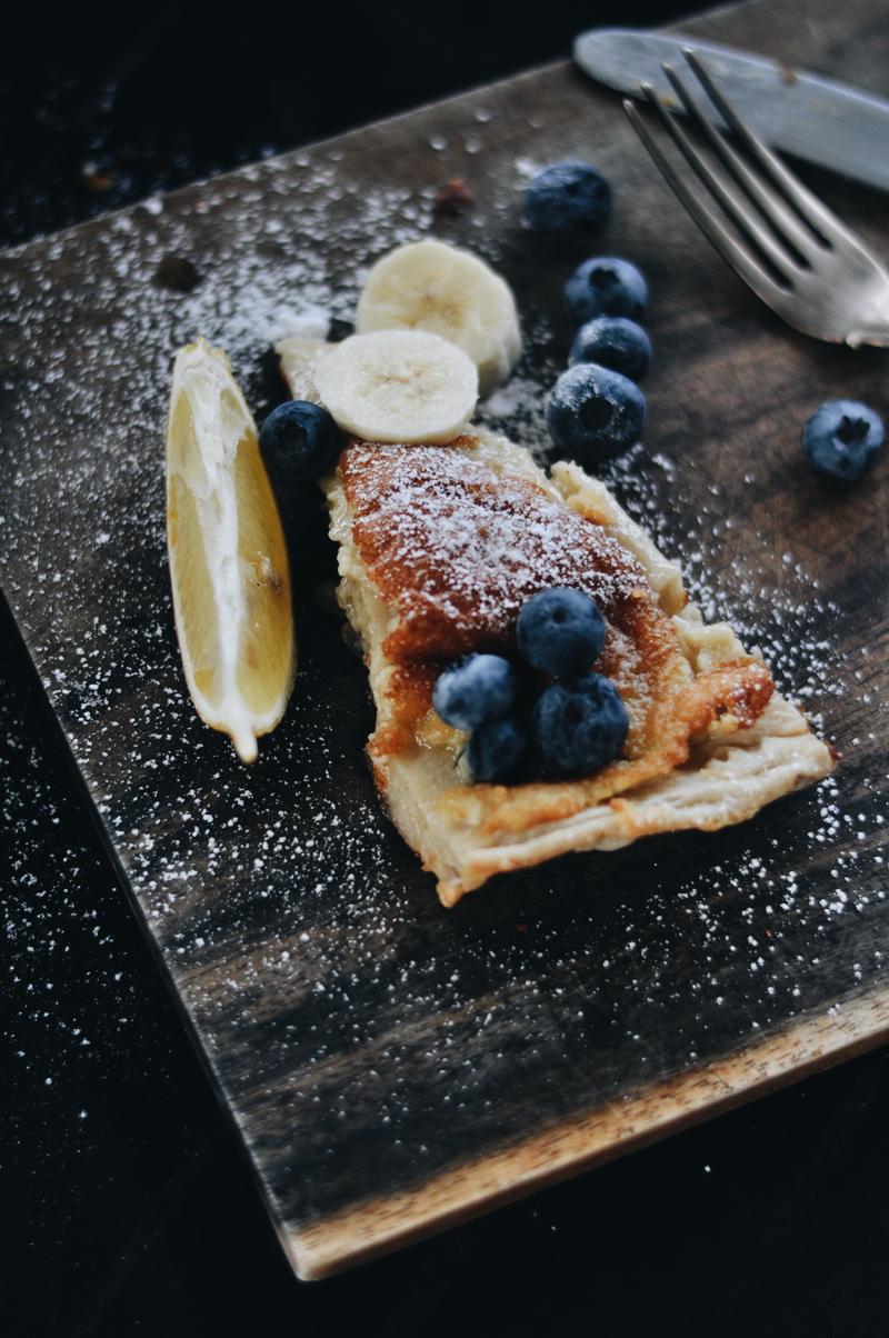 dutch baby pancake · dāņu pankūka