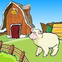 GenieFunGames Cute Sheep Rescue from Fox