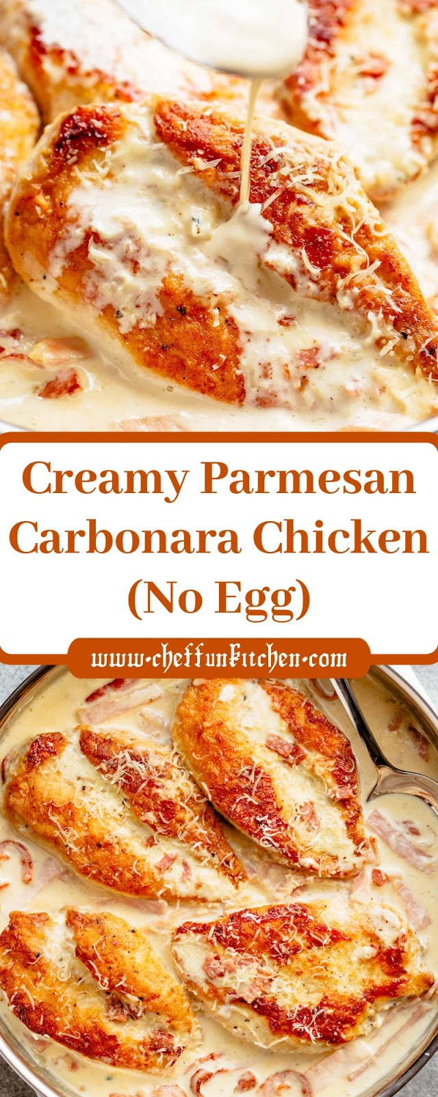 Creamy Parmesan Carbonara Chicken (No Egg)