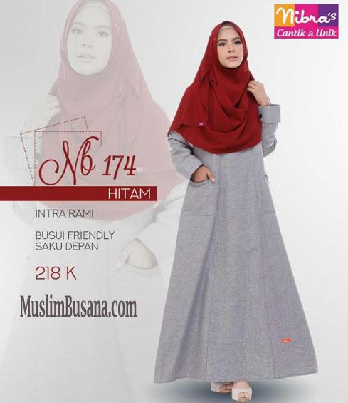 Baju Muslim Gamis Nibras Terbaru 2018 Seri 171 174