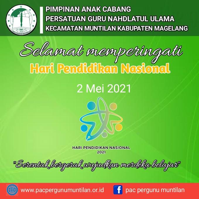 Sambutan Hari Pendidikan Nasional 2021 oleh ketua PAC Pergunu Kecamatan Muntilan