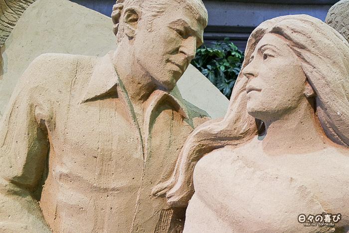 sculpture de sable carnaval rio
