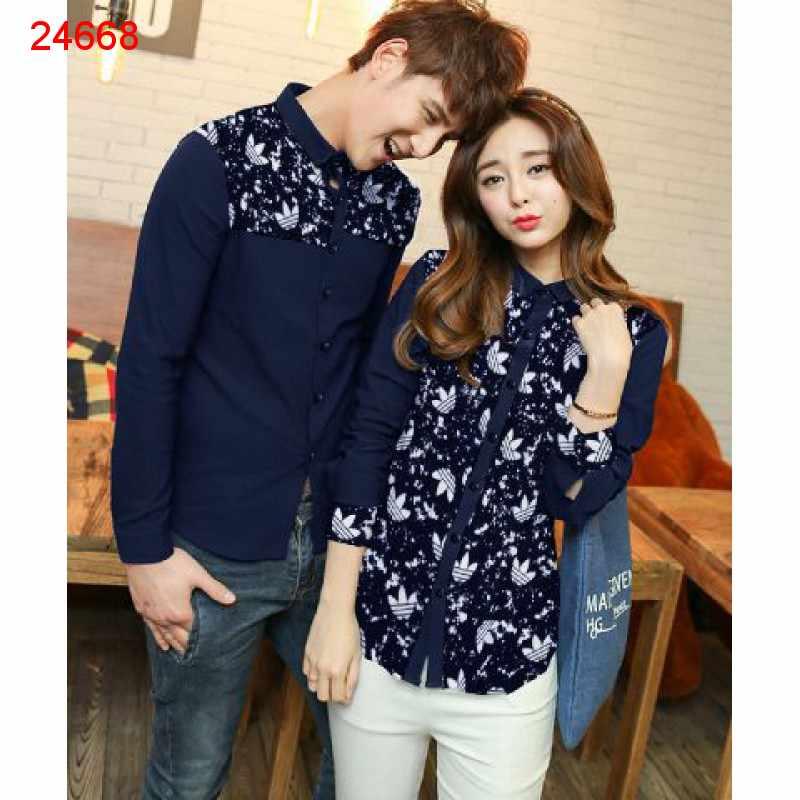 Jual Kemeja Couple Adidas Gum Navy - 24668