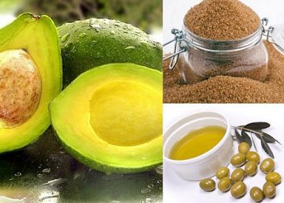 Bơ, đường và dầu oliu là cách làm trắng da toàn thân hiệu quả cho da khô