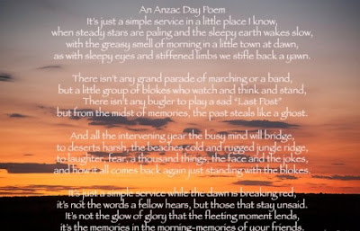 anzac day 2017 poems