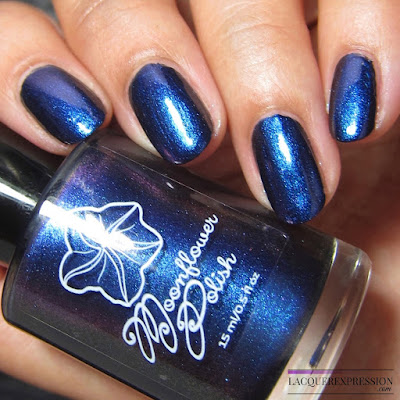 Nail polish swatch of Moonflower Polish Mystique from the multichrome collection