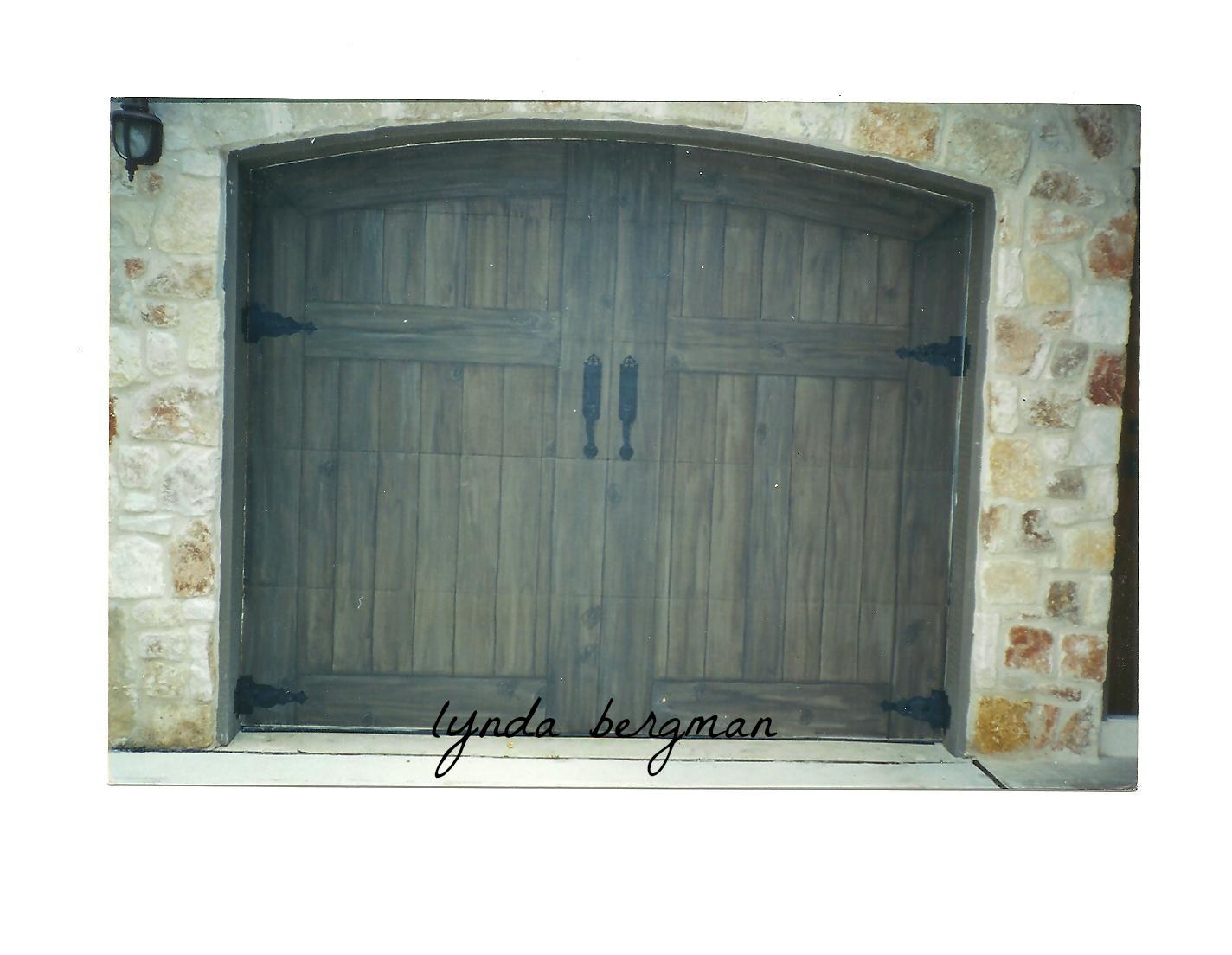 LYNDA BERGMAN DECORATIVE ARTISAN: TROMPE L'OEIL GARAGE ...