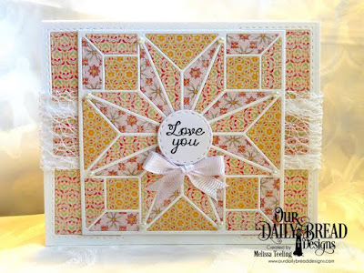 Our Daily Bread Designs Stamp Set: Quilted With Love, Our Daily Bread Designs Custom Dies: Star Quilt, Double Stitched Circles, Our Daily Bread Designs Paper Collection: Cozy Quilt