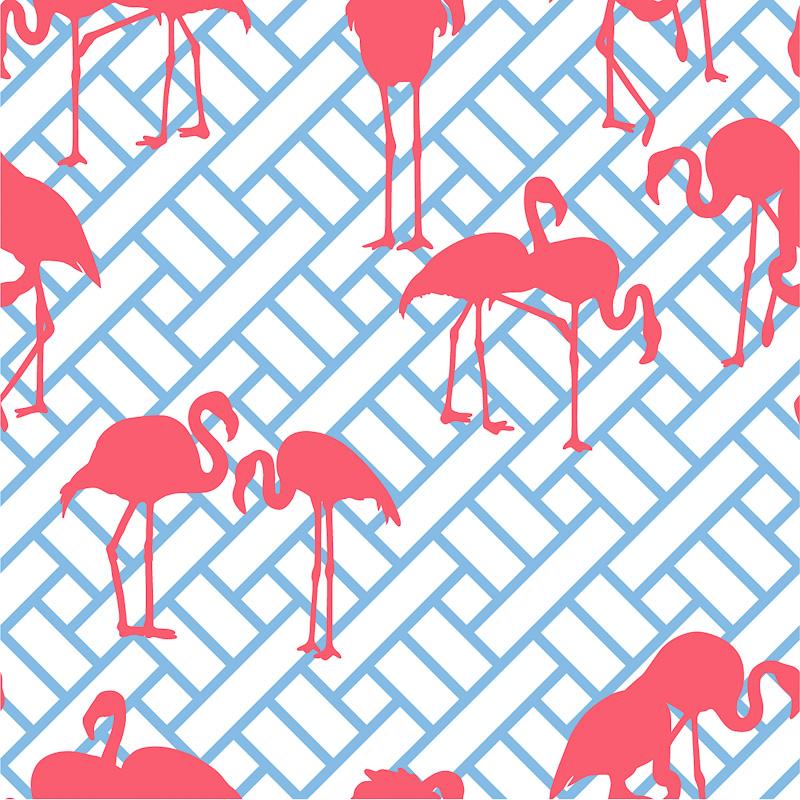 Trellis Background Wallpaper: Maria Barros And Her Fabulous Flamingos
