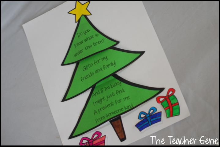 Christmas Tree Display Board.The Teacher Gene Christmas Tree Craftivity And Freebie