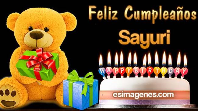 Feliz cumpleaños Sayuri