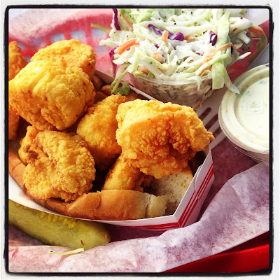Fried Scallops from Bob's Clam Hut on Route 1 on the Maine NH border in Maine