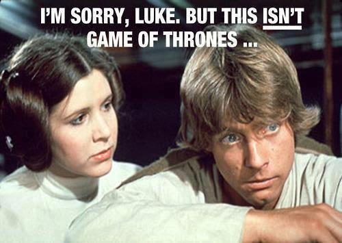 Meme de humor sobre Juego de tronos y Star Wars
