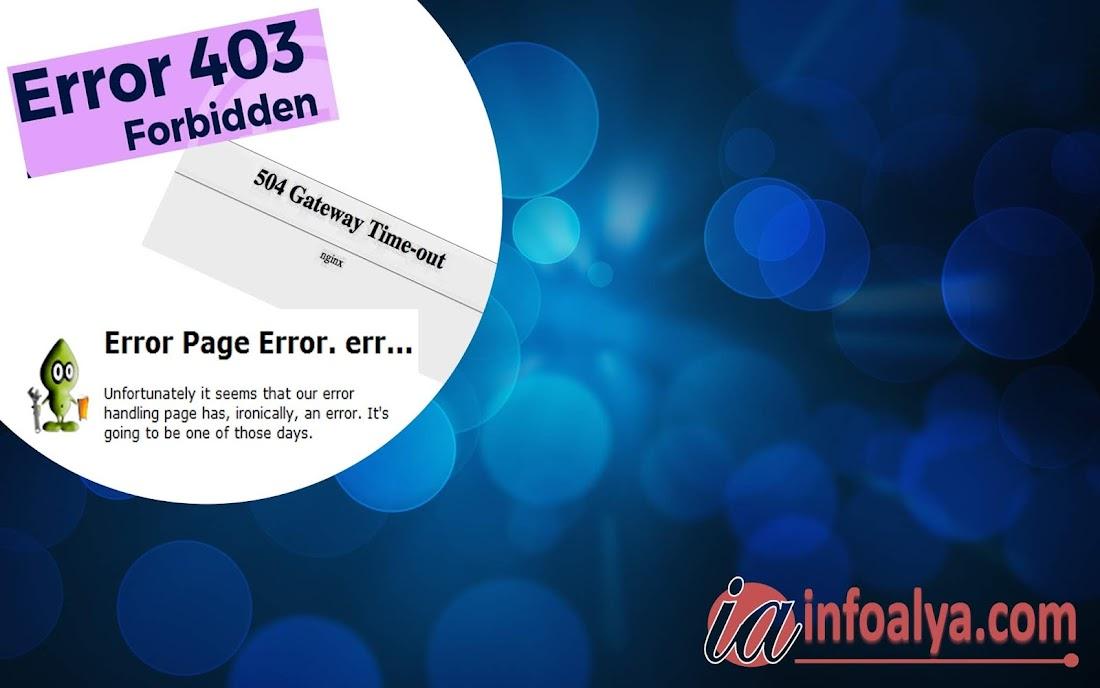 Beberapa Kode Error yang Ditampilkan Browser
