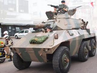 Viatura EE-9 do 6º Esquadrão de Cavalaria Motorizada do exército brasileiro, - Santa Maria, estado do Rio Grande do Sul.