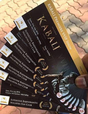 Kabali Movie Advance Booking (BookmyShow, Justickets.in) Start