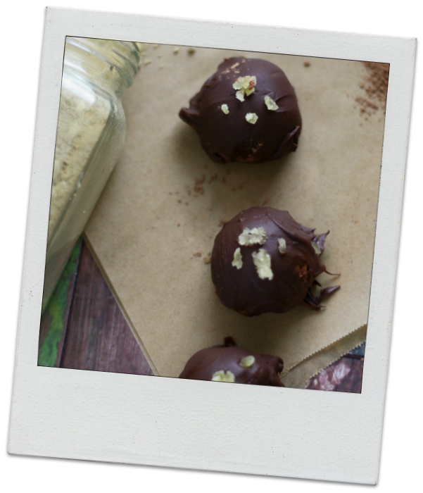 Ginger and Rye Boozy Truffles
