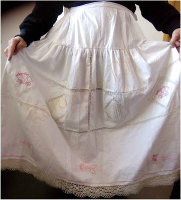 Convertir una sábana en enagua