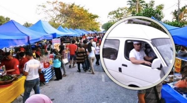 Heboh Di Bazar Ramadan. Apa Yg Dibawa Oleh Van Ni Amat MENGEJUTKAN Orang Ramai !!!