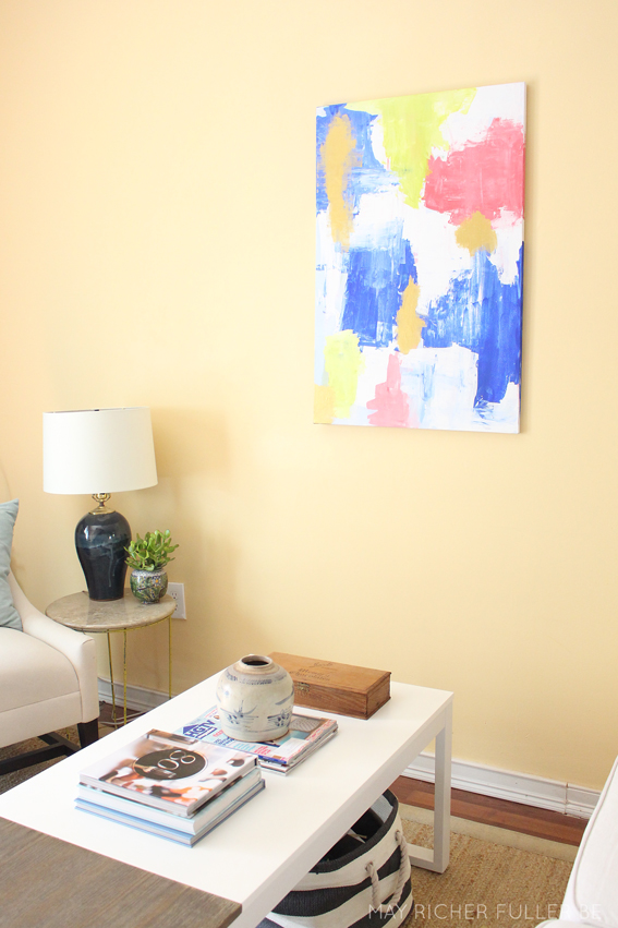 Abstract Room Designs: DIY Abstract Art For The Living Room