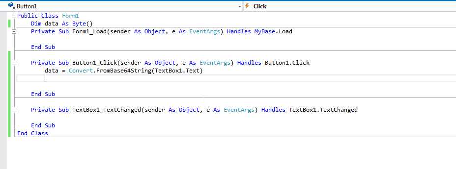 Value of type '1-dimensional array of Byte' cannot be converted to