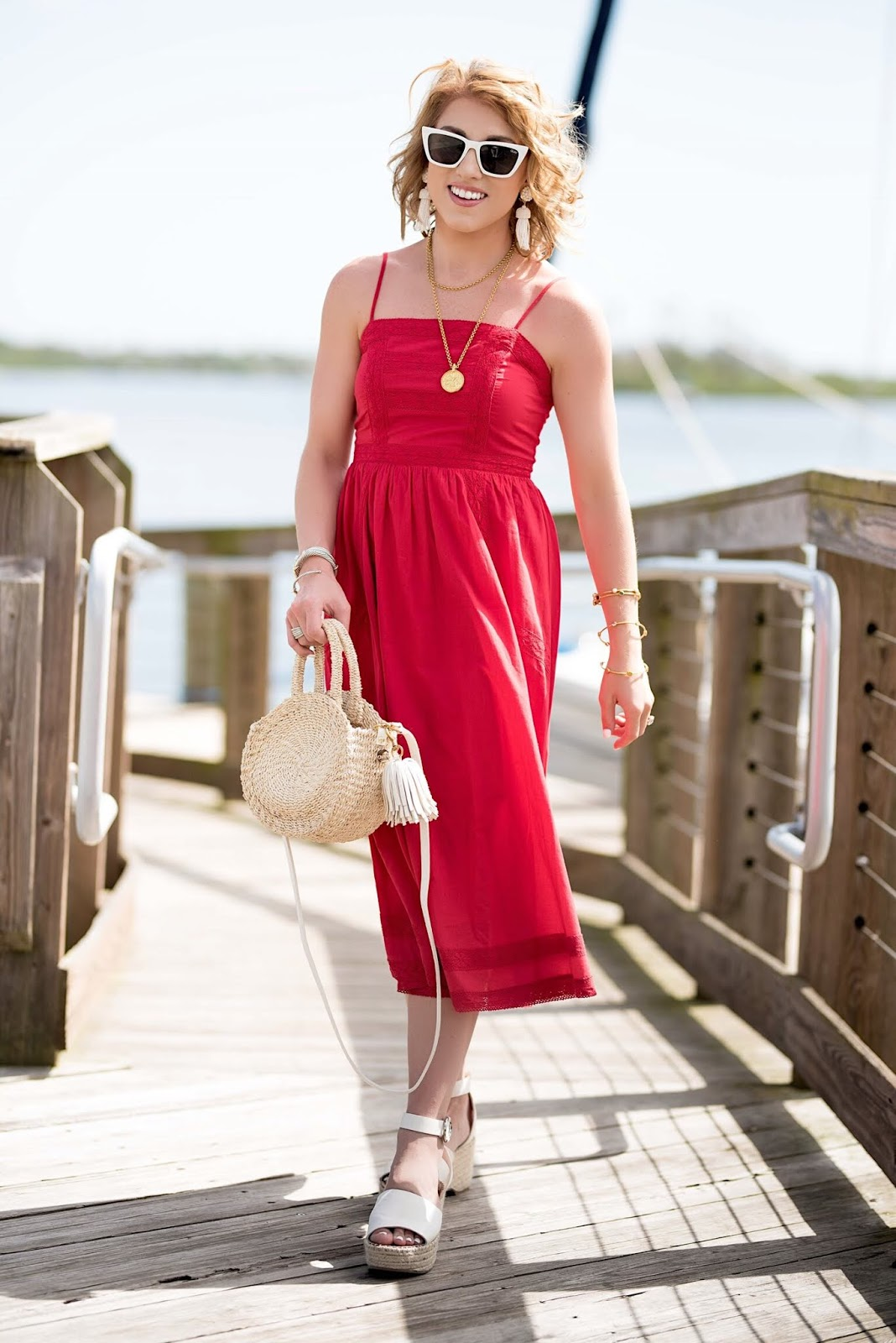 Summer Style (Under $50 Midi Dress) - Something Delightful Blog