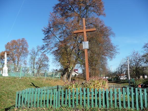 Добровляны Дрогобычского района. Крест борцам за волю Украины