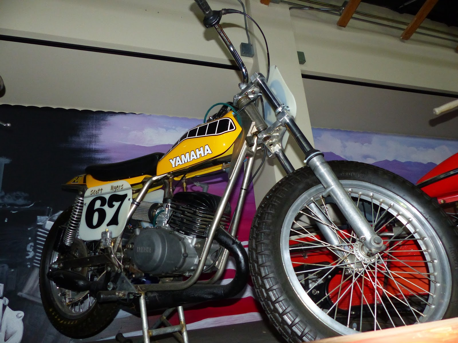 Oldmotodude yamaha flat tracker on display at the rocky for Rocky mountain motor sports