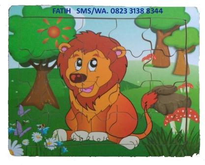 Permainan Puzzle Anak Singa