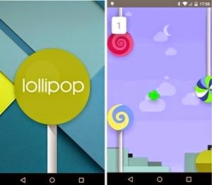 Menampilkan Easter Egg Android 5.0 Lollipop