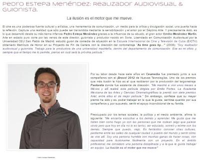 "ENTREVISTA a Pedro Estepa Menéndez ""Realizador Audiovisual & Guionista"" by Melanie Belmonte"