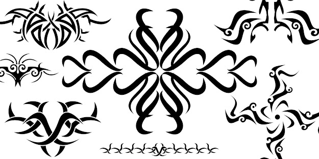 Tribal Art Using Vector Graphics  Free Vector Artwork