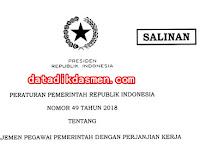 Unduh PDF Peraturan Pemerintah (PP ) No 49 Tahun 2018 Tentang PPPK