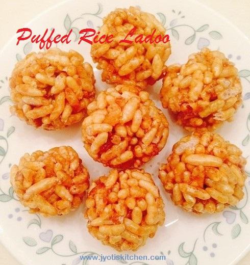 Puffed Rice Ladoo Recipe