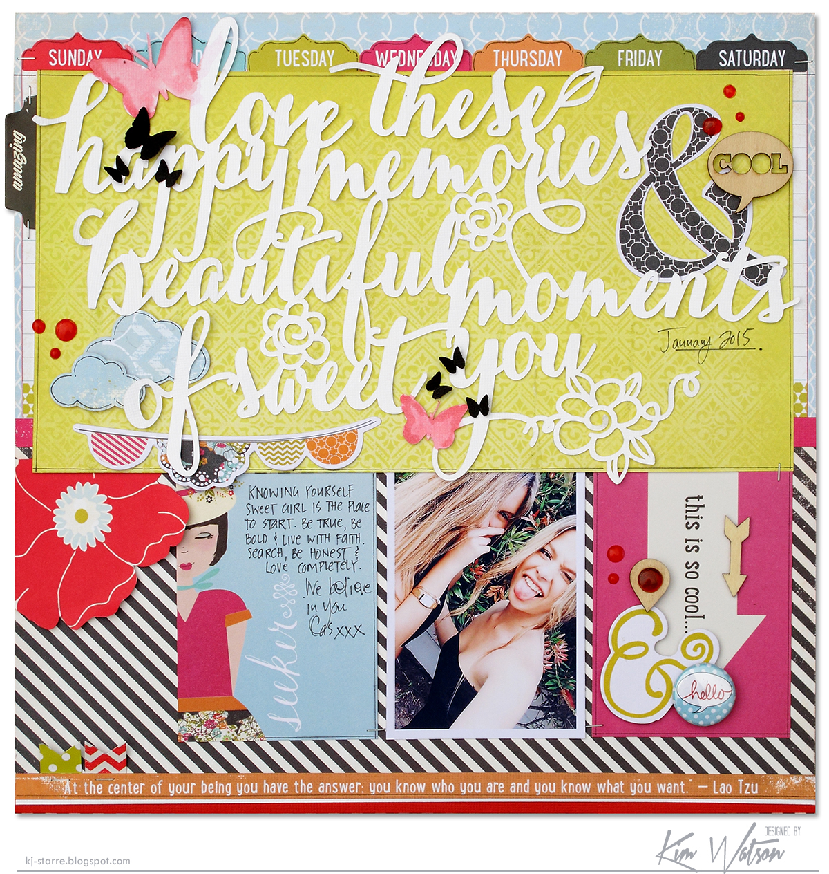 Beautiful Moments Scrapbook Page by Kim Watson Guest Designer for 17turtles Digital Cut Files