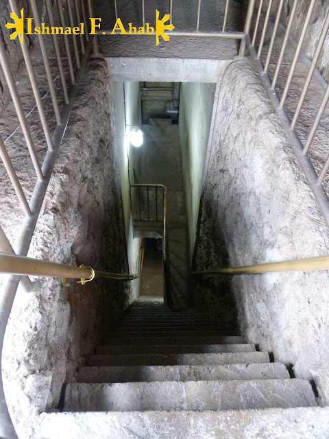 Stairs to the crypt of Wat Ratchabaruna in Ayutthaya Historical Park, Thailand