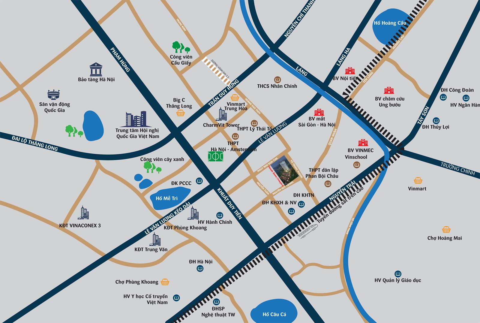 Vị trí dự án chung cư Quang Minh Tower
